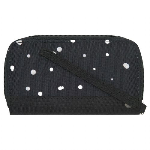 ANIMAL WOMENS PURSE.NEW CHANGING WAVES BLACK SPOTTY WALLET WITH WRIST STRAP 9W 2